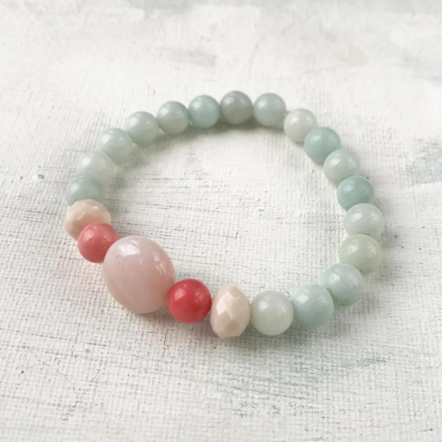 Annie bracelet blue/coral