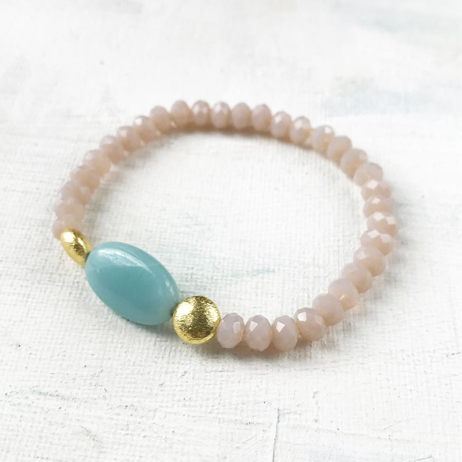 Annie bracelet blush/duck egg