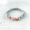 Annie bracelet grey/coral - picture 1