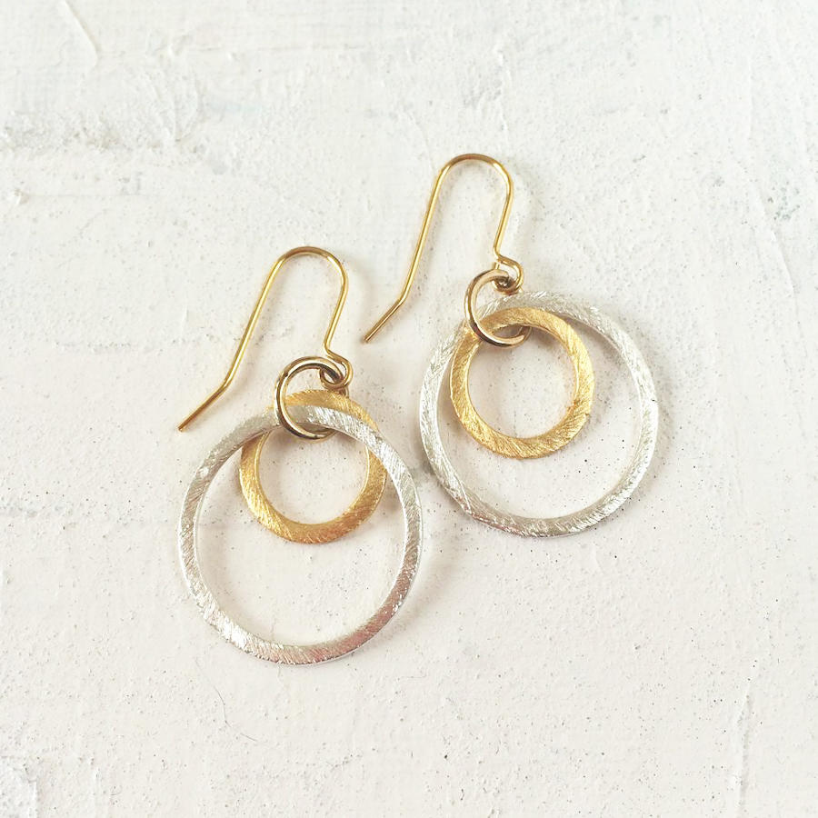 Solar rings earrings