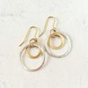 Solar rings earrings - picture 1