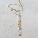 Long nugget pendant necklace - picture 1