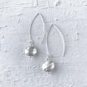 Long drop earrings nugget - picture 1