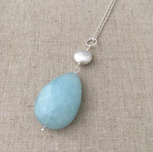 2 stone pendant duck egg