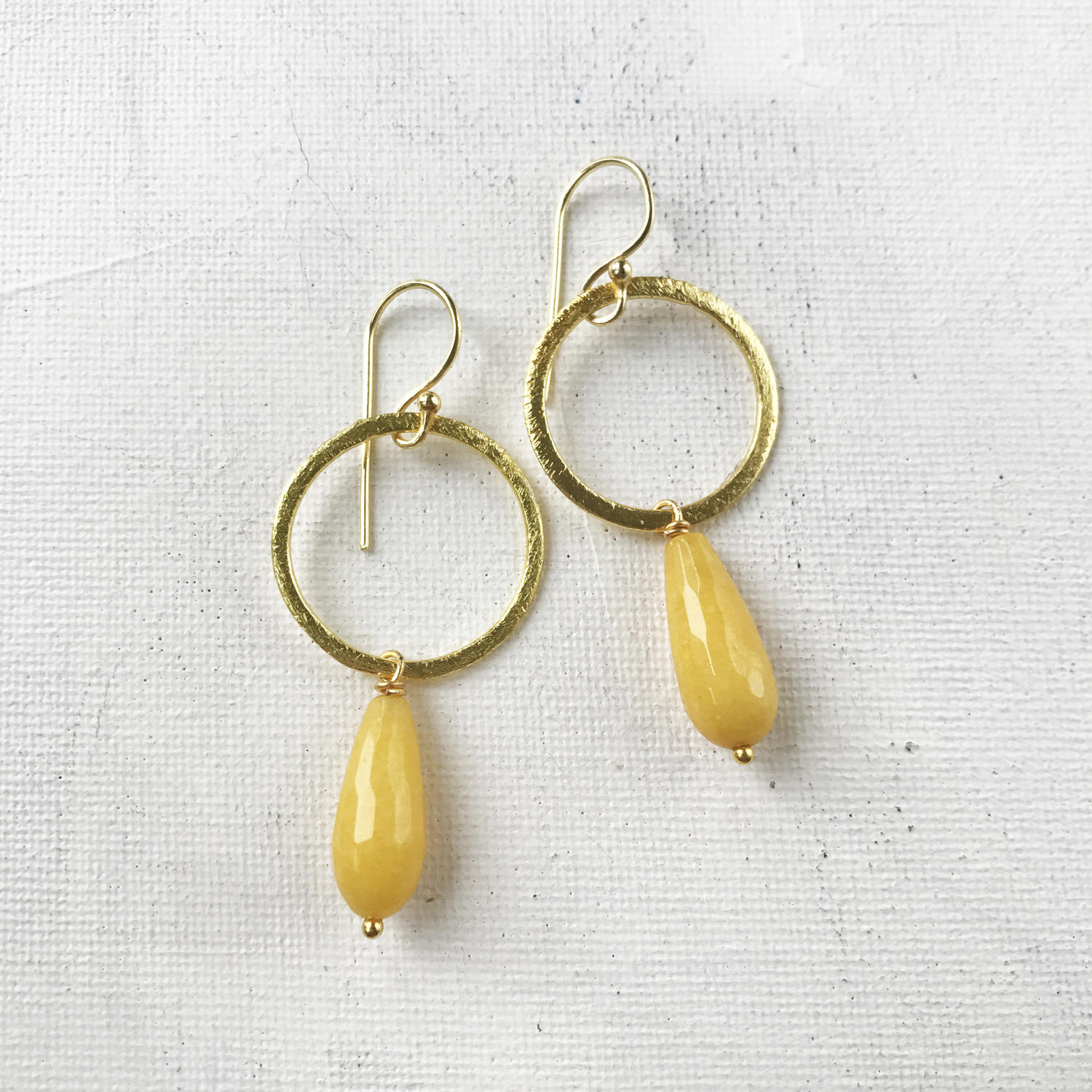 Lydia large earrings yellow