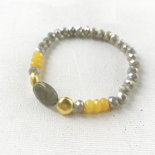 Annie bracelet yellow/grey