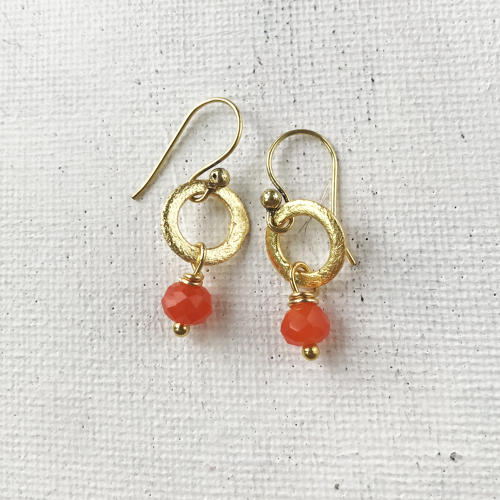 Lydia tiny earrings orange