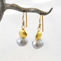 Galaxy pearl earrings - picture 1