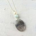 3 stone pendant grey/duck egg - picture 1