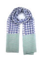 Lucy scarf blue green - picture 1