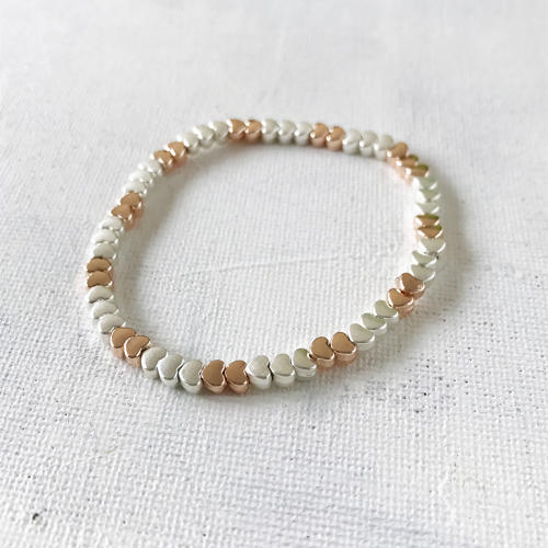 Dainty hearts bracelet