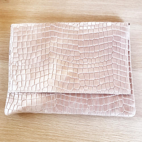 Leather clutch pink