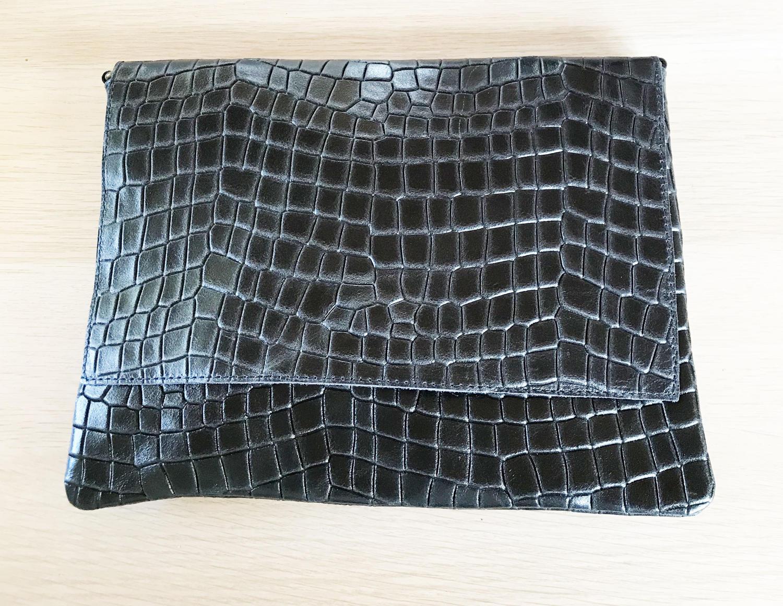 Leather clutch black