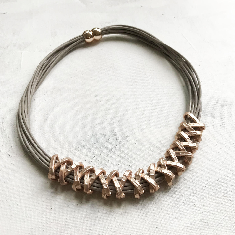 Criss cross necklace