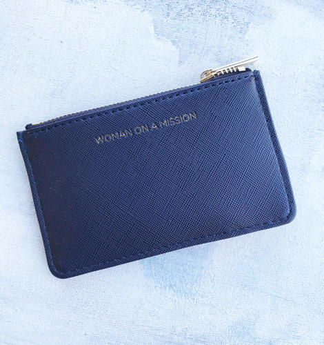 Card purse navy