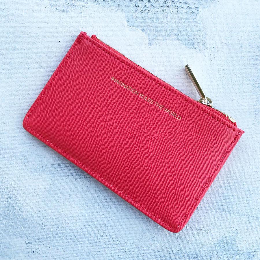 Card purse coral