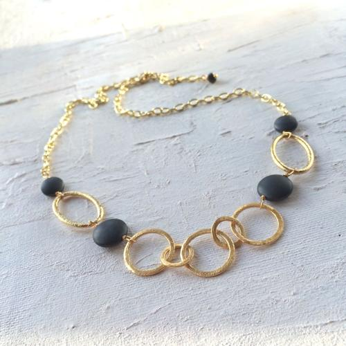 Polly necklace charcoal