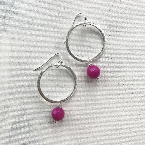 Lydia earrings L pink
