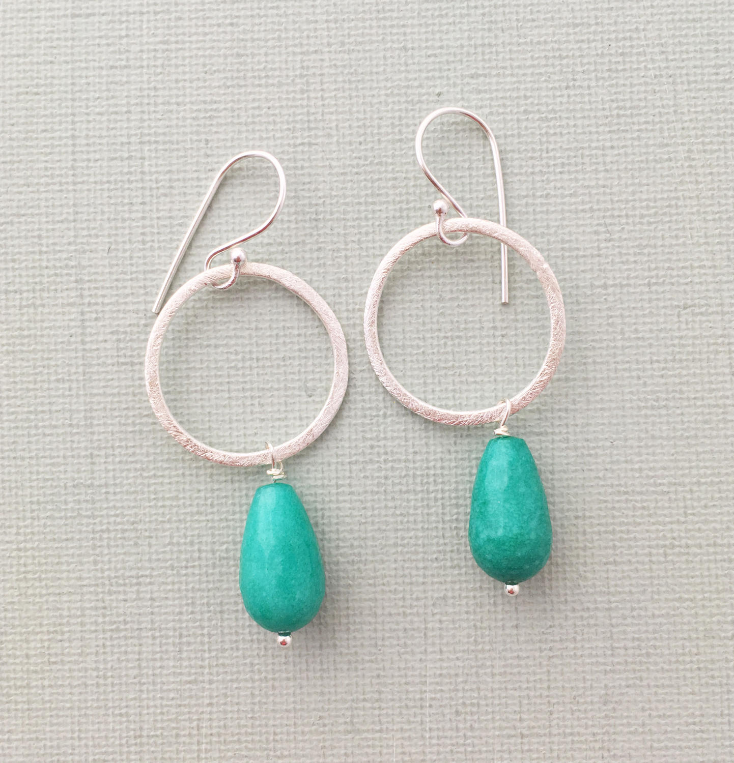 Lydia earrings teal