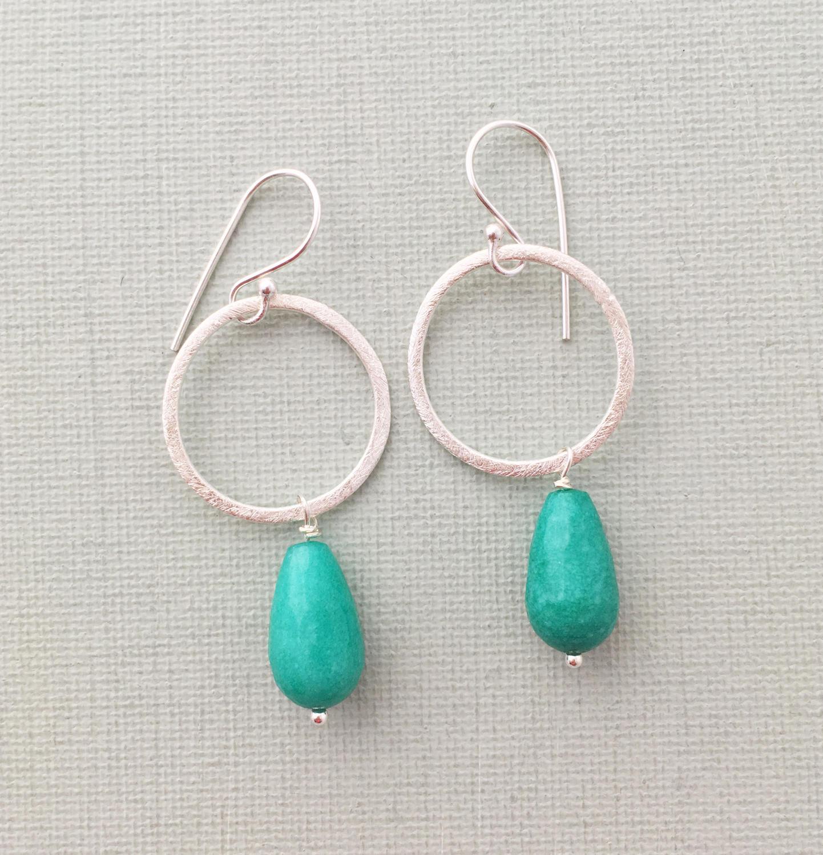 Lydia earrings teal