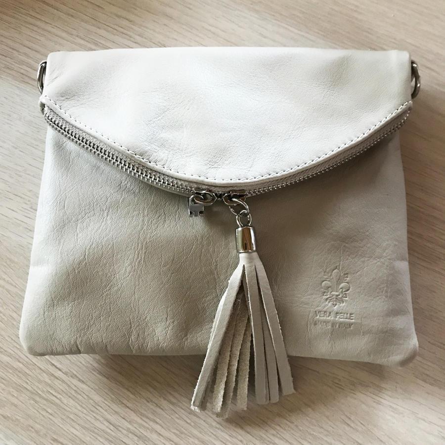Tassel crossbody bag grey