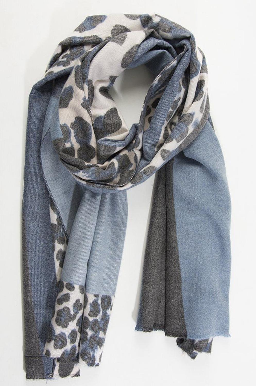 Blanket scarf blue