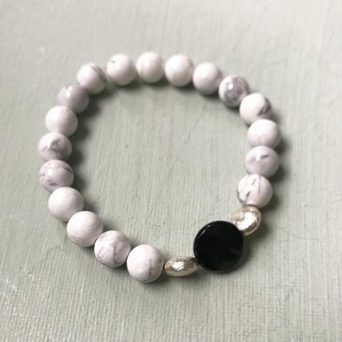 Annie bracelet in black & white