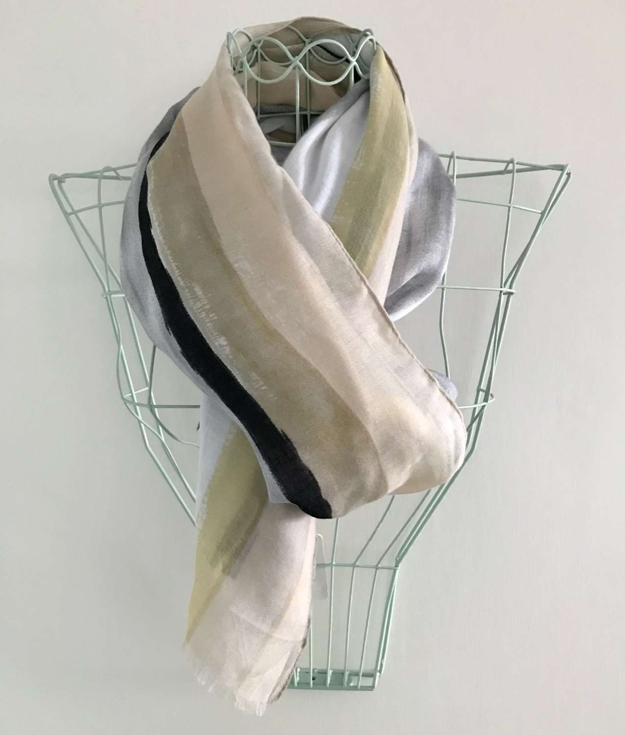 Scarf charcoal mustard