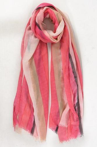 Scarf Pink stripe