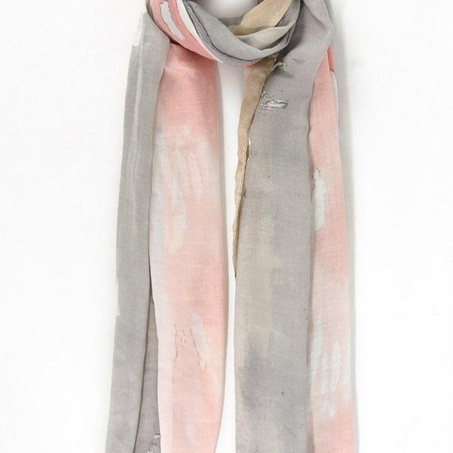 Scarf taupe pink