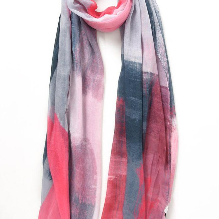 Scarf pink abstract