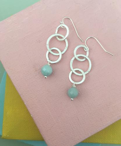 Gina earrings amazonite