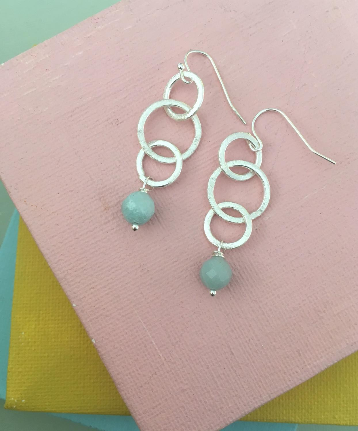 Gina earrings amazonite