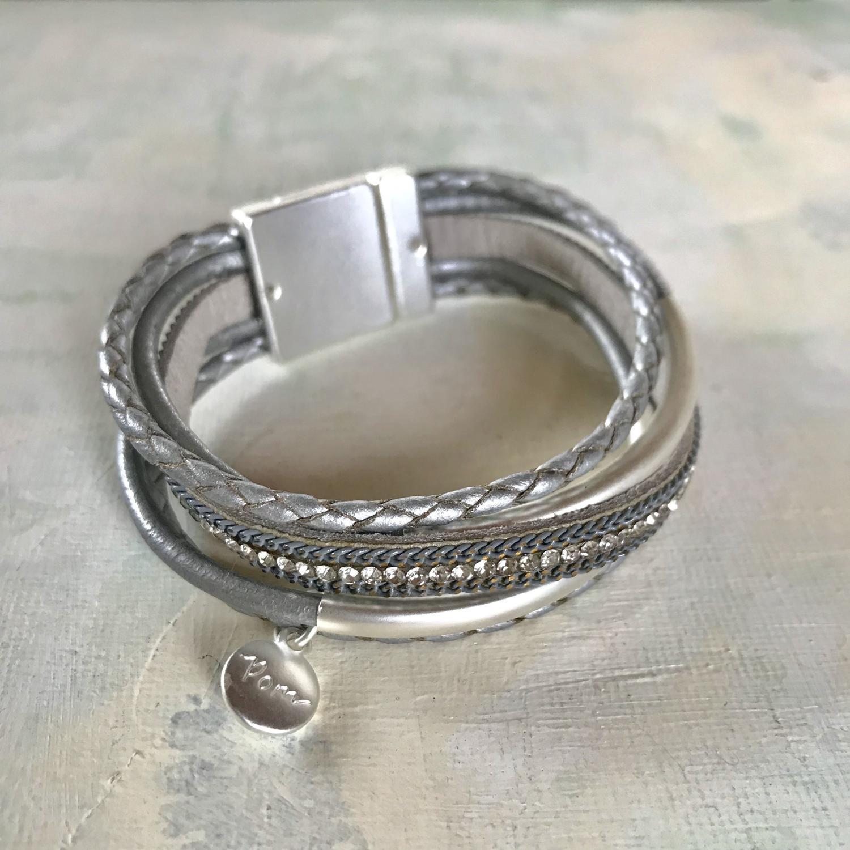Multi leather bangle