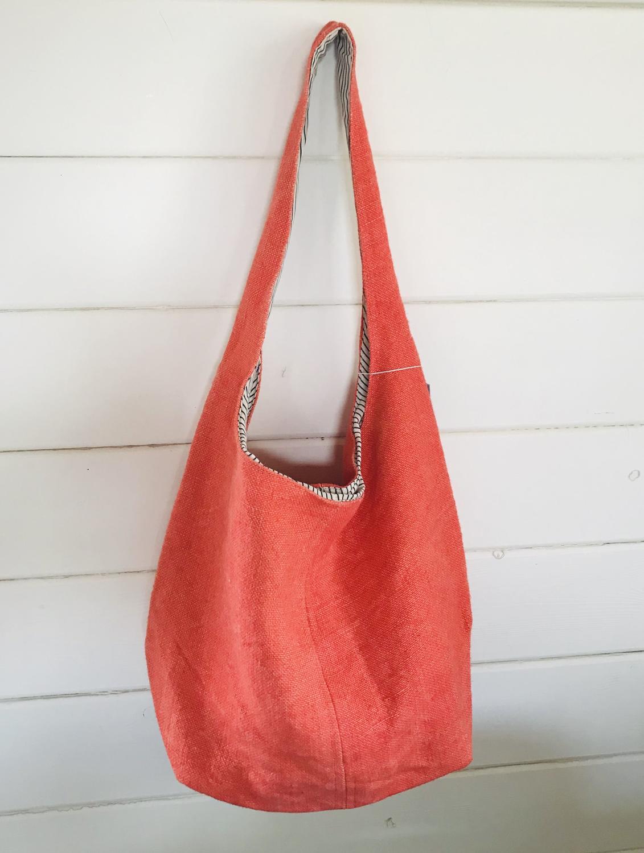 Jute bag orange