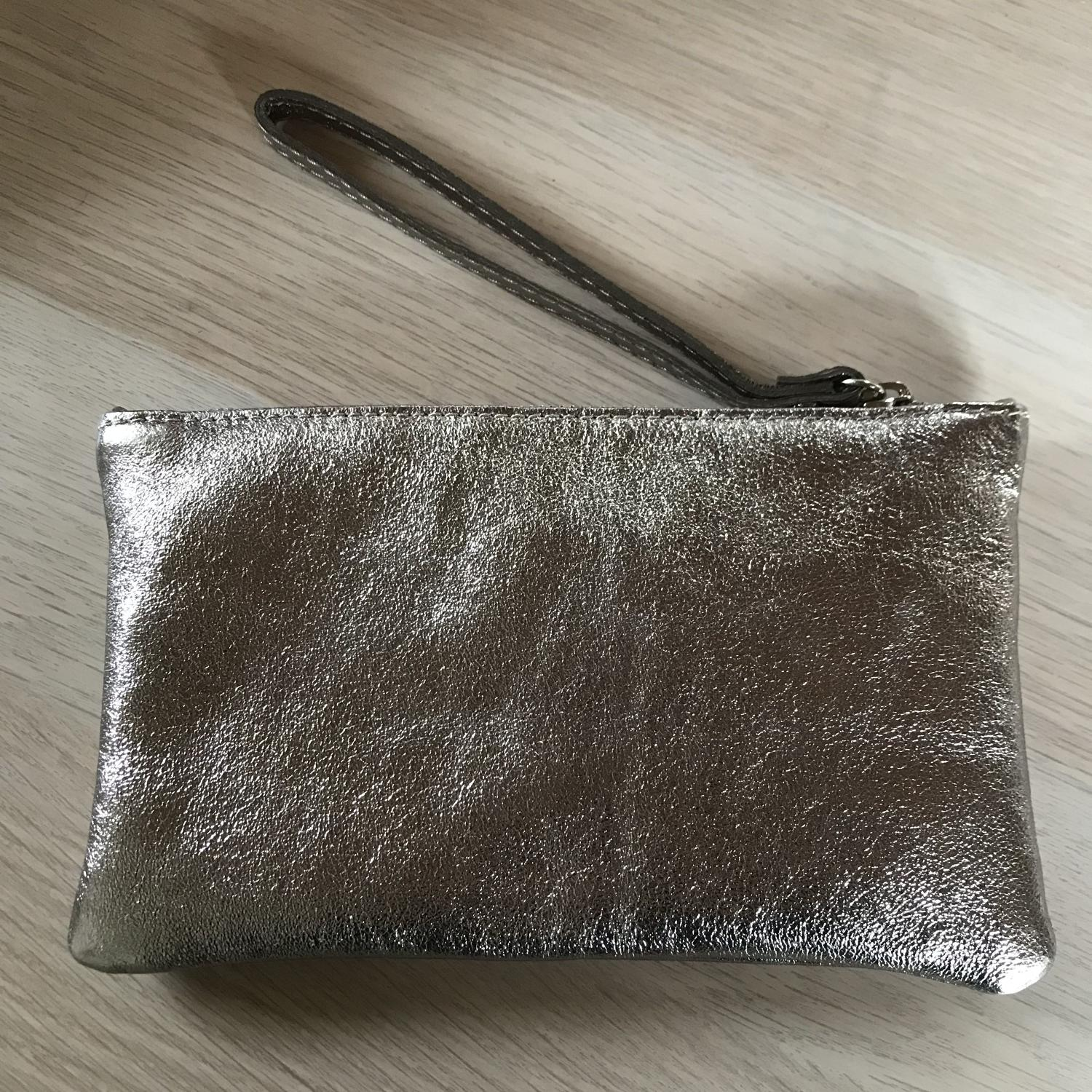 Leather pouch bronze
