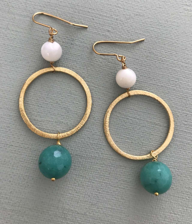 Lottie earrings- teal