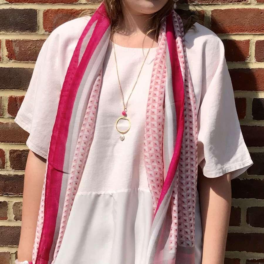 Tasselled scarf