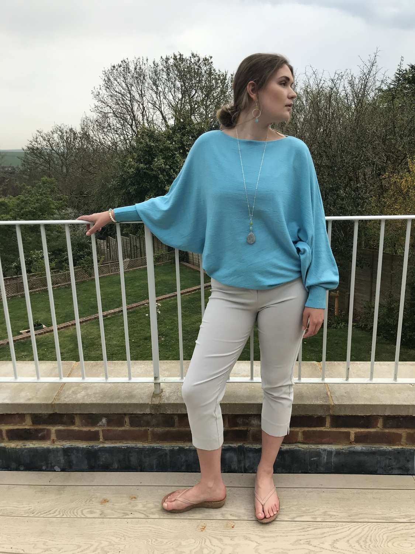 Pale Grey Capri trousers