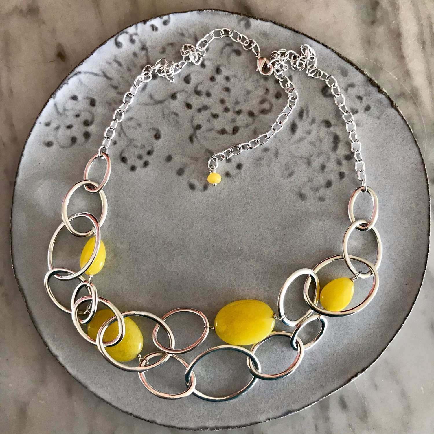 Mandy Necklace - Yellow