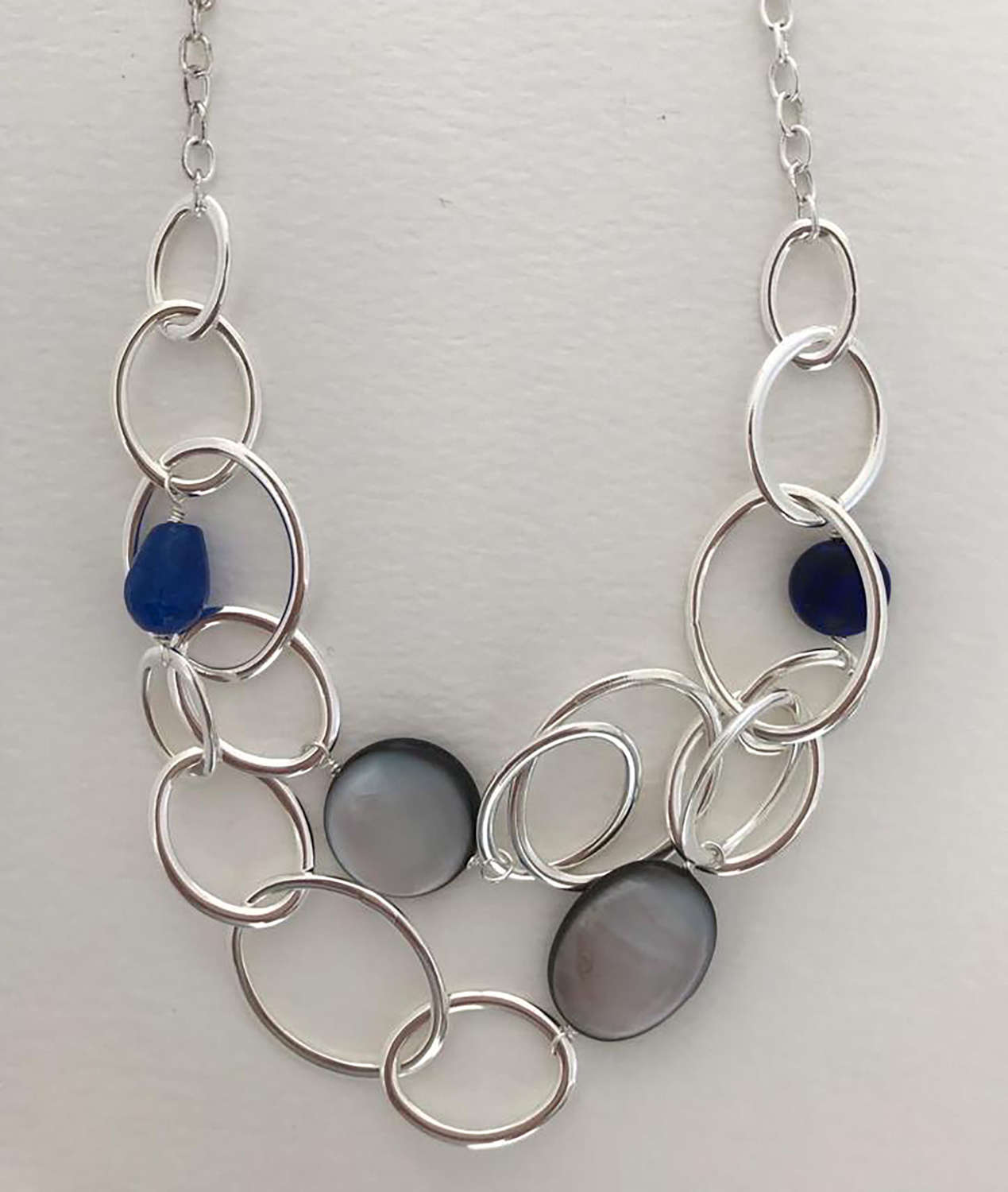 Mandy necklace - blue skies