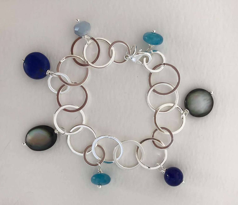 Charm bracelet - blue skies