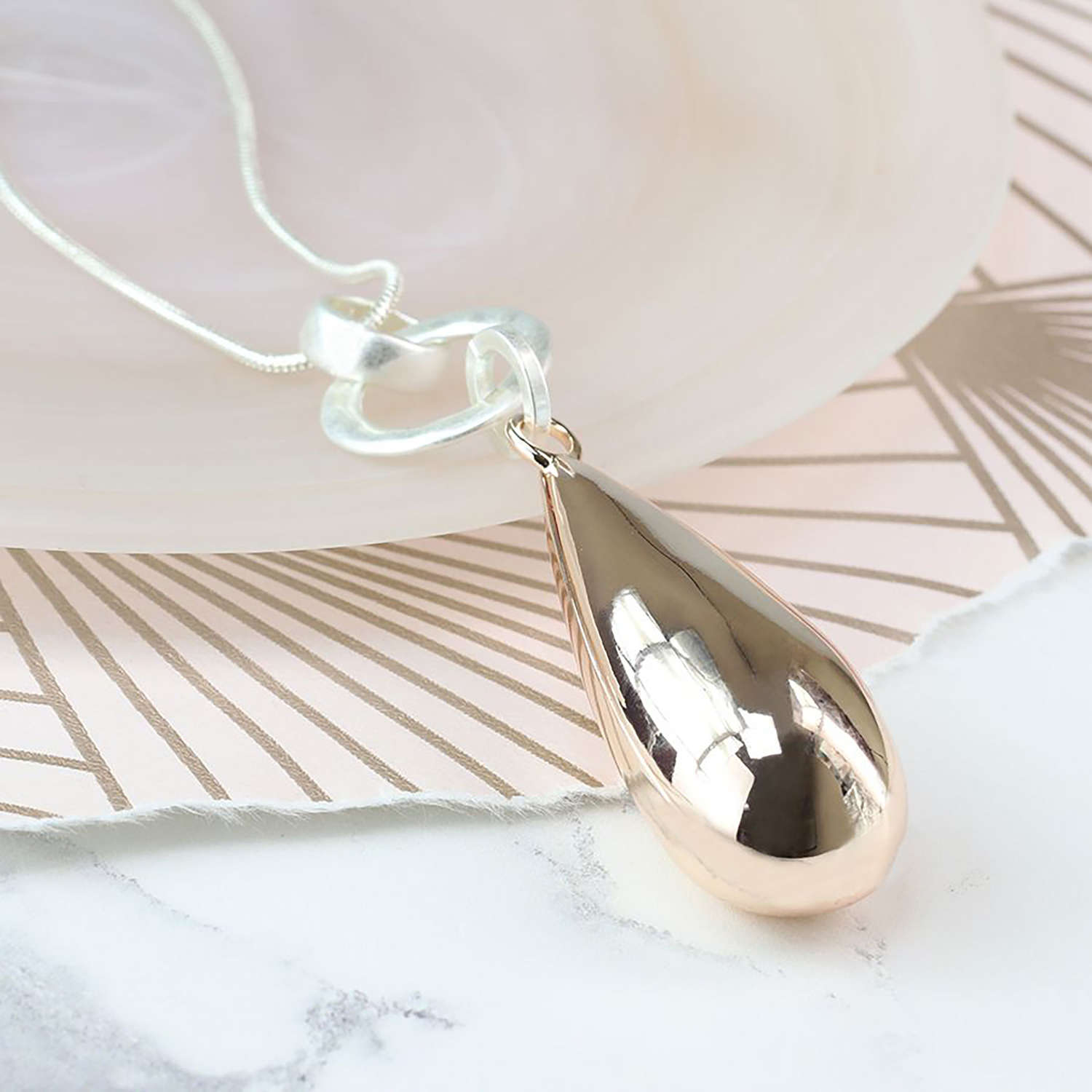 Long teardrop necklace