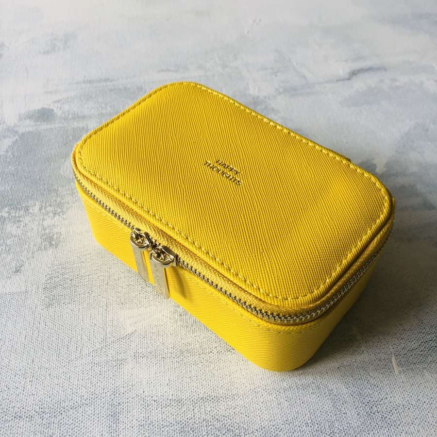 Jewellery box yellow