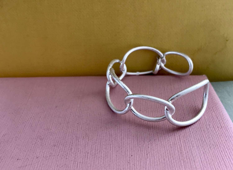 Chain link bracelet in silver