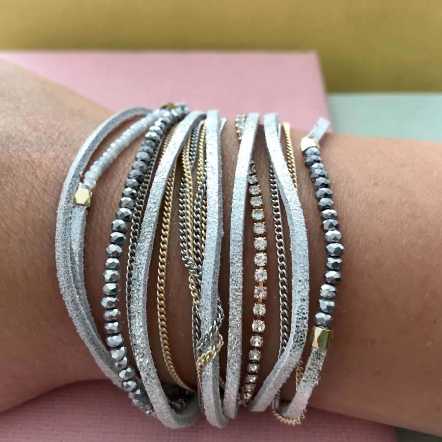 Silver and gold sparkly bracelet