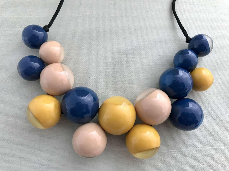 Resin bobbles necklace
