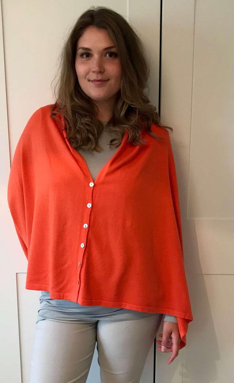 Button poncho - orange