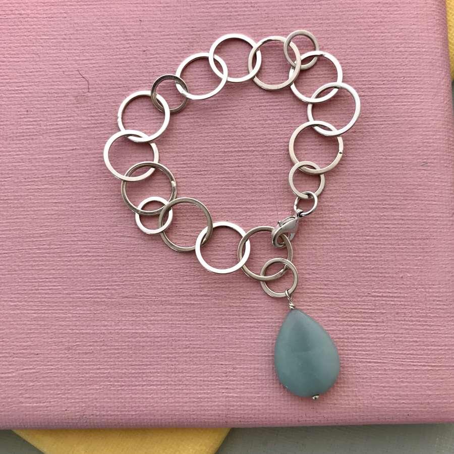 Amazonite teardrop bracelet