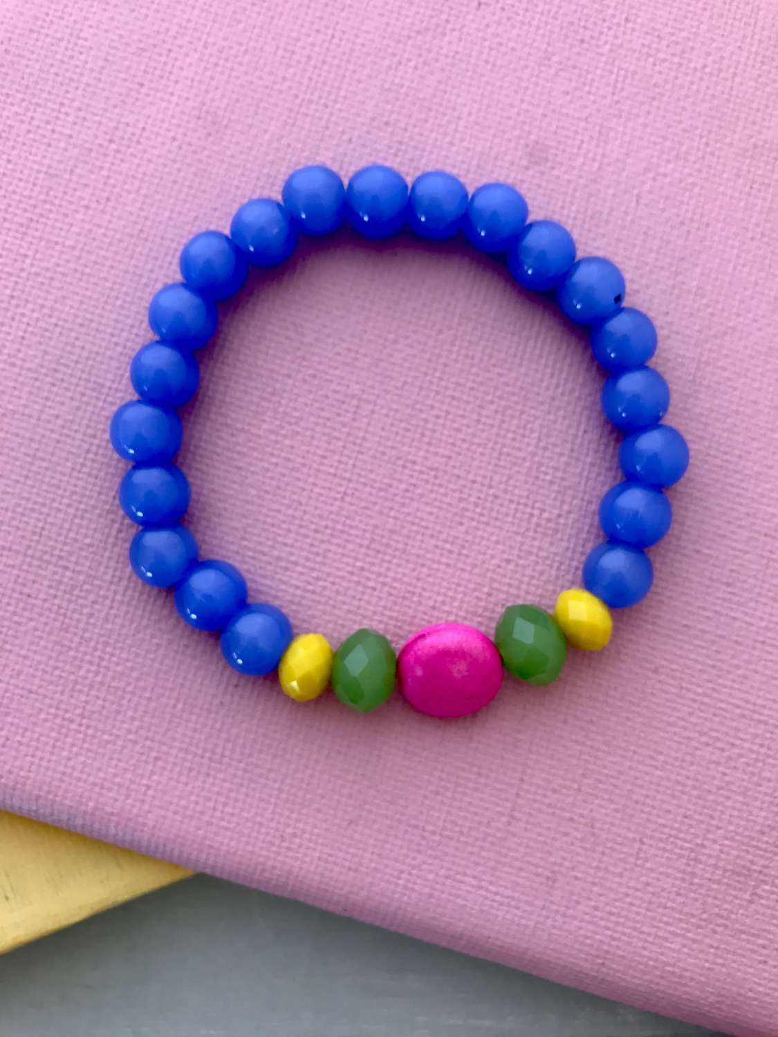 Annie bracelet in blues and pink